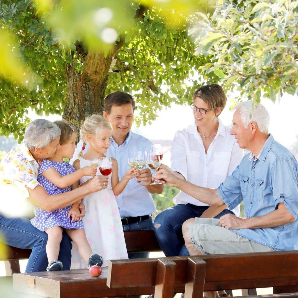 Weingenuss pur, mit der ganzen Familie.